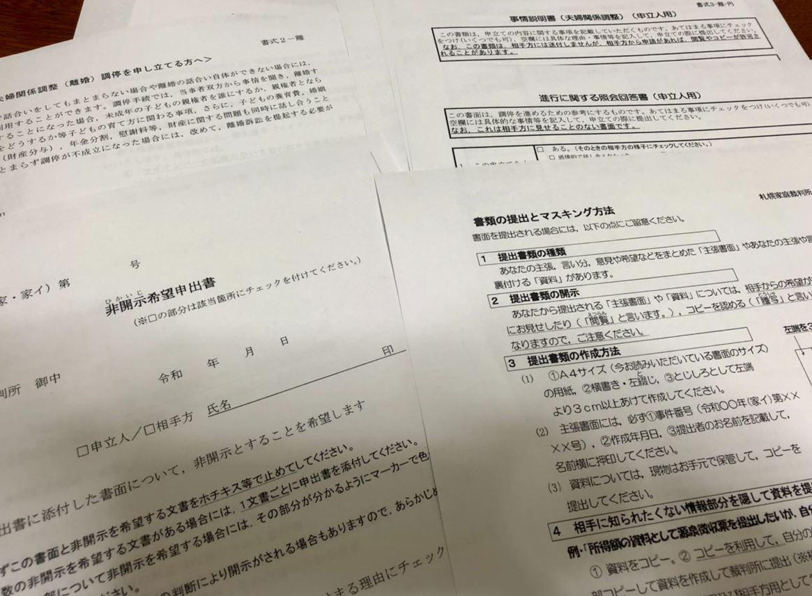 書類の数々
